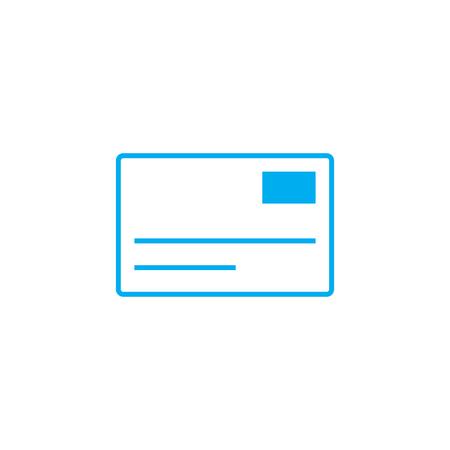 Letter line icon, vector illustration. Letter linear concept sign.  イラスト・ベクター素材