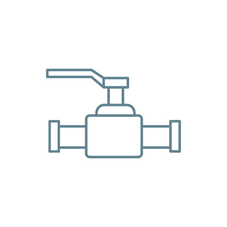 Lever valve line icon, vector illustration. Lever valve linear concept sign.  イラスト・ベクター素材