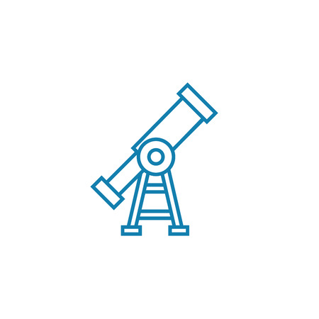 Long-term perspective line icon, vector illustration. Long-term perspective linear concept sign. Иллюстрация