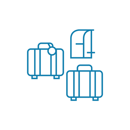 Luggage line icon, vector illustration. Luggage linear concept sign.