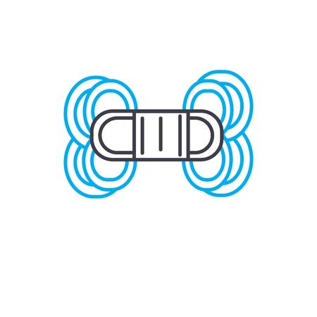 Macrame line icon, vector illustration. Macrame linear concept sign.