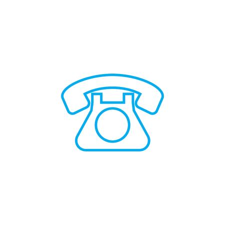 Landline phone line icon, vector illustration. Landline phone linear concept sign. Иллюстрация