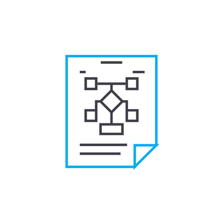 Managment structure line icon, vector illustration. Managment structure linear concept sign. Illustration