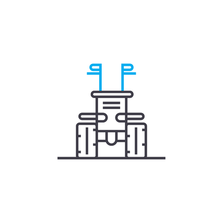 Means of production line icon, vector illustration. Means of production linear concept sign.