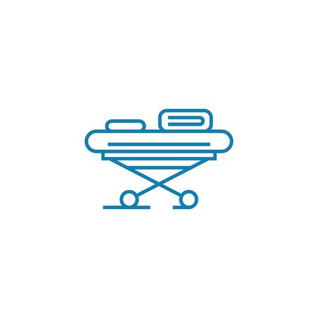 Medical wheelchair line icon, vector illustration. Medical wheelchair linear concept sign.