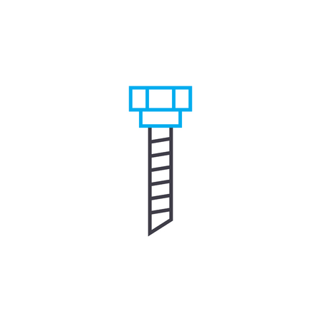 Mounting bolt line icon, vector illustration. Mounting bolt linear concept sign.