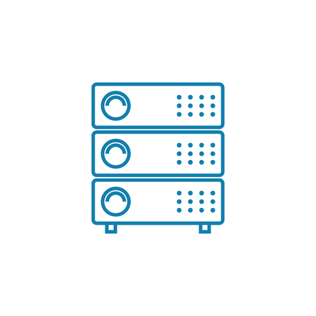 Network equipment line icon, vector illustration. Network equipment linear concept sign. Illustration