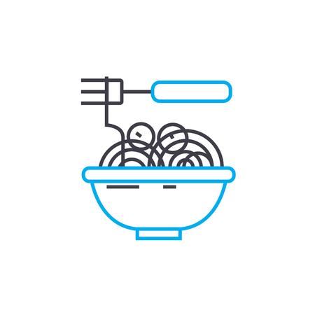 Noodles line icon, vector illustration. Noodles linear concept sign.