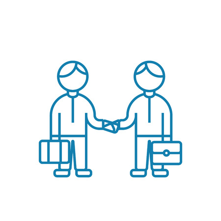 Mutual agreement line icon, vector illustration. Mutual agreement linear concept sign.