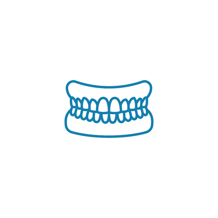 Occlusion line icon, vector illustration. Occlusion linear concept sign.