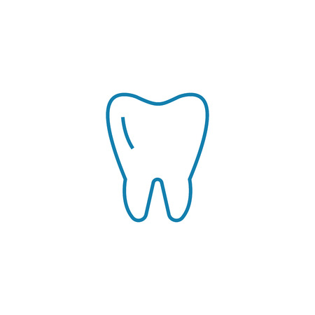 Molar line icon, vector illustration. Molar linear concept sign.