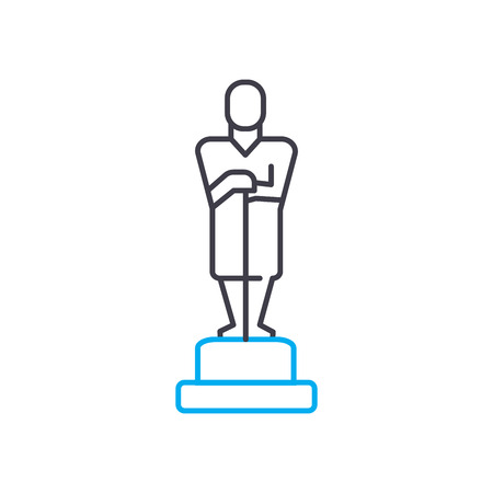 Monument on the pedestal line icon, vector illustration. Monument on the pedestal linear concept sign. Banque d'images - 101918404