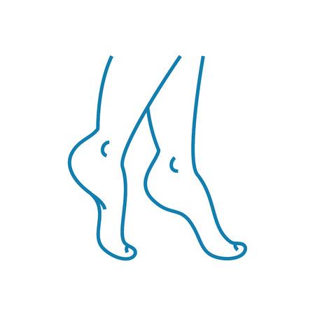 Orthopedic examination line icon, vector illustration. Orthopedic examination linear concept sign.