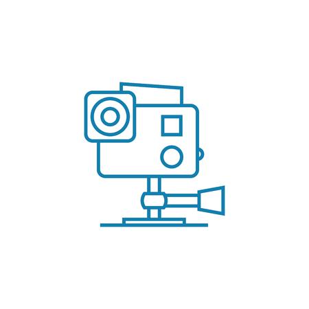 Operators work line icon, vector illustration. Operators work linear concept sign.  イラスト・ベクター素材