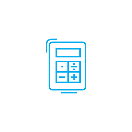 Ordinary calculator line icon, vector illustration. Ordinary calculator linear concept sign.