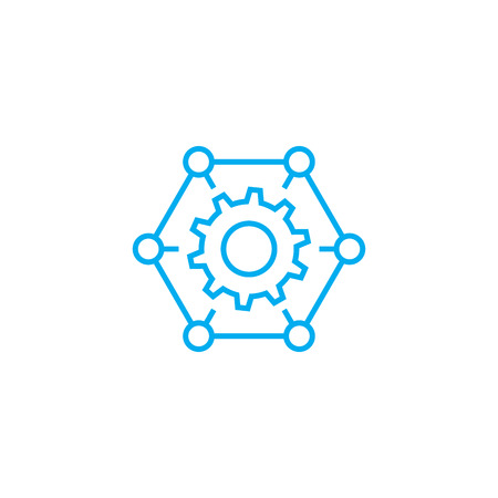 Organizational process line icon, vector illustration. Organizational process linear concept sign. Illustration