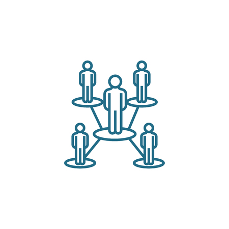 Organizational structure line icon, vector illustration. Organizational structure linear concept sign.