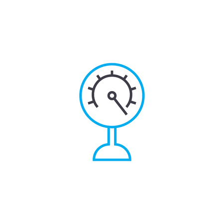 Metering device line icon, vector illustration. Metering device linear concept sign.