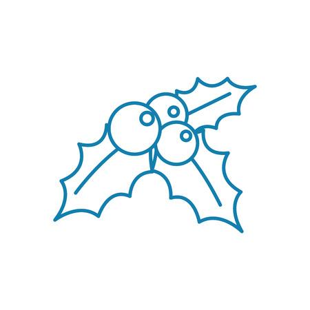 Mistletoe line icon, vector illustration. Mistletoe linear concept sign.
