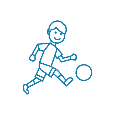 Outdoor football line icon, vector illustration. Outdoor football linear concept sign. 向量圖像