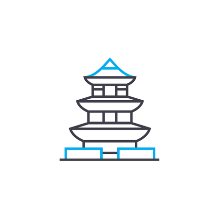 Pagoda line icon, vector illustration. Pagoda linear concept sign.