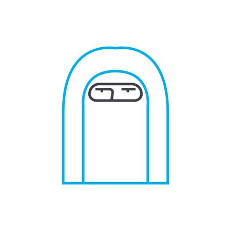Paranja line icon, vector illustration. Paranja linear concept sign.
