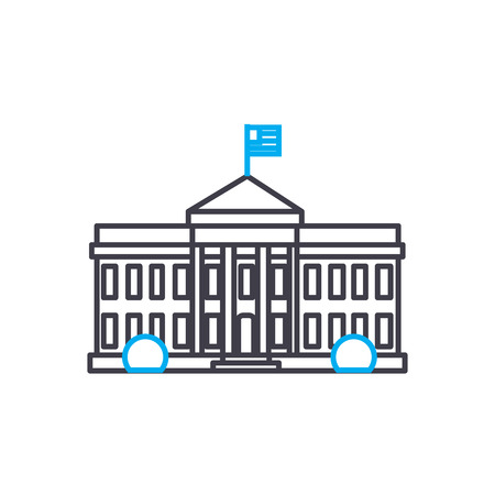 Parliament building line icon, vector illustration. Parliament building linear concept sign. Illusztráció