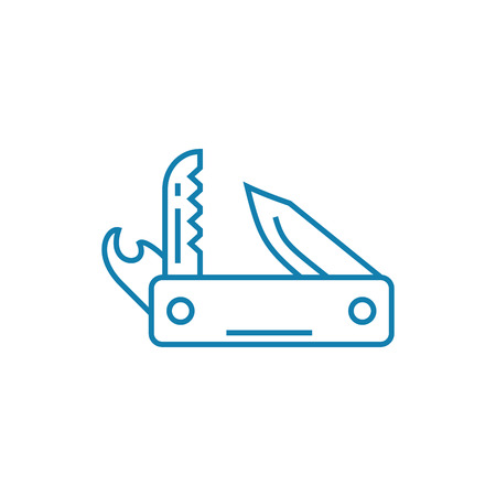 Penknife line icon, vector illustration. Penknife linear concept sign. 向量圖像