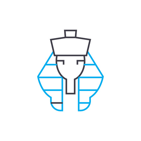 Pharaoh line icon, vector illustration. Pharaoh linear concept sign. Ilustrace