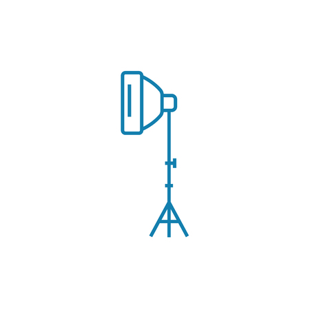Photo lamp line icon, vector illustration. Photo lamp linear concept sign.  イラスト・ベクター素材