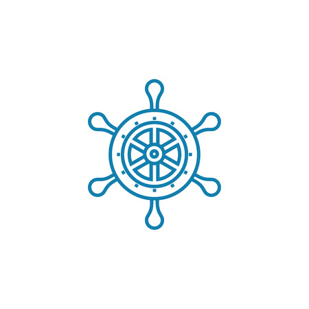 Playing sea battle line icon, vector illustration. Playing sea battle linear concept sign. Illustration