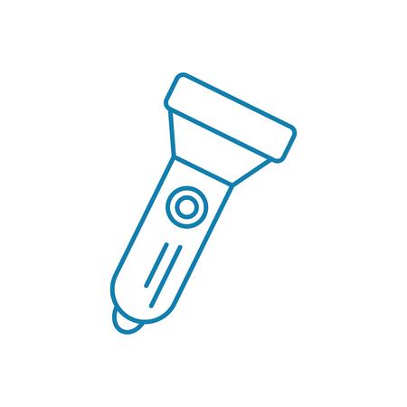 Pocket torch line icon, vector illustration. Pocket torch linear concept sign. 向量圖像