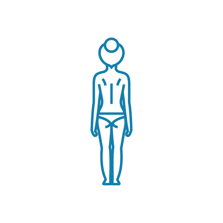 Posture check line icon, vector illustration. Posture check linear concept sign.