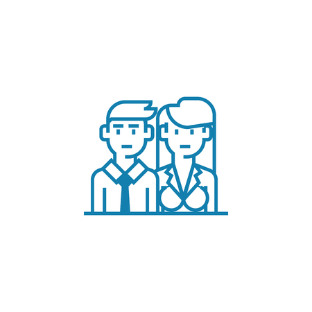 Potential clients line icon, vector illustration. Potential clients linear concept sign.
