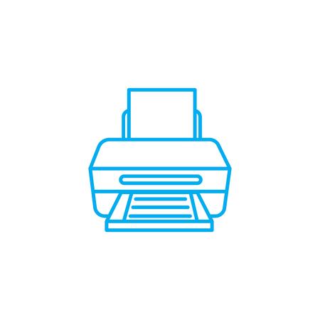 Printer line icon, vector illustration. Printer linear concept sign.