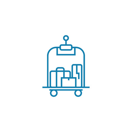Porter services  line icon, vector illustration. Porter services  linear concept sign.