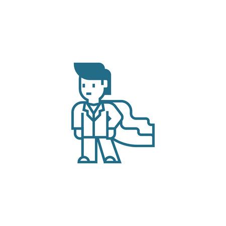 Professional skills line icon, vector illustration. Professional skills linear concept sign.