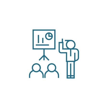 Professional training line icon, vector illustration. Professional training linear concept sign.