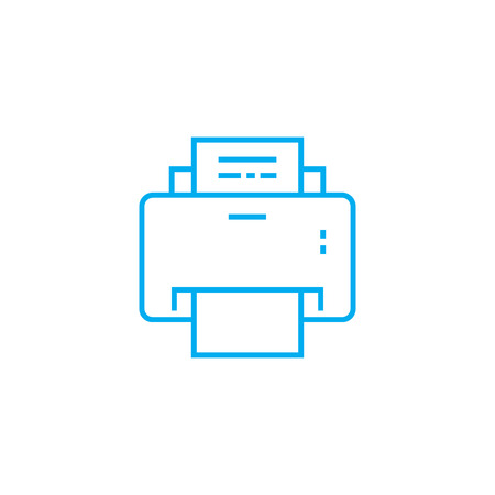 Printout of documents line icon, vector illustration. Printout of documents linear concept sign.  イラスト・ベクター素材