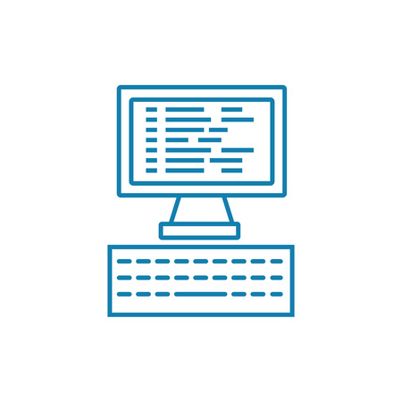 Programming line icon, vector illustration. Programming linear concept sign. Illustration