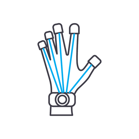 Prosthetics technology line icon, vector illustration. Prosthetics technology linear concept sign. Illustration