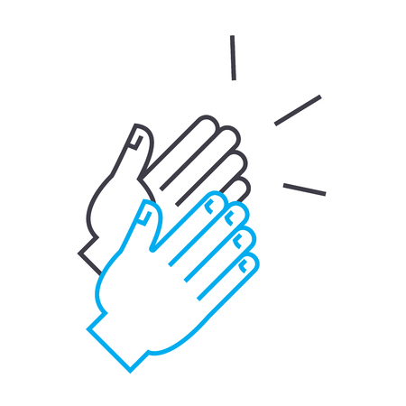 Public recognition line icon, vector illustration. Public recognition linear concept sign.