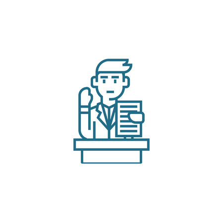 Questions on documents line icon, vector illustration. Questions on documents linear concept sign.
