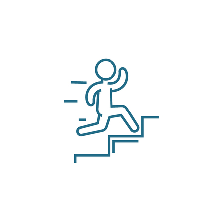 Quick success line icon, vector illustration. Quick success linear concept sign.  イラスト・ベクター素材
