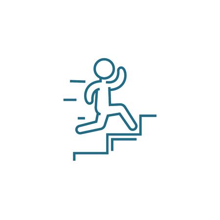 Quick success line icon, vector illustration. Quick success linear concept sign. Illustration