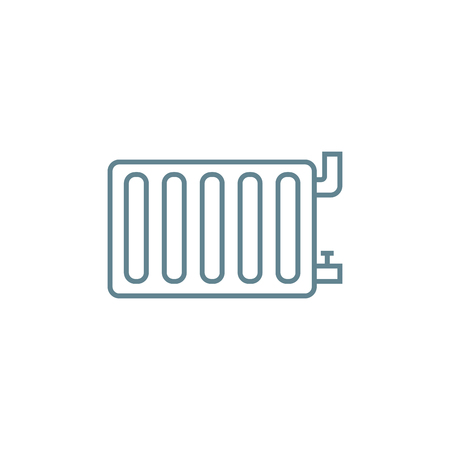 Radiant space heater line icon, vector illustration. Radiant space heater linear concept sign.