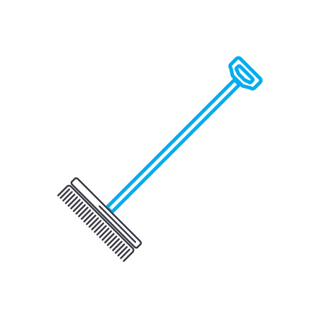 Rake line icon, vector illustration. Rake linear concept sign.