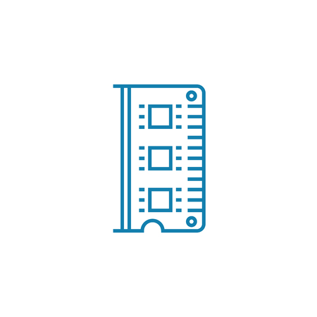 Ram module line icon, vector illustration. Ram module linear concept sign. Stock fotó - 101975712