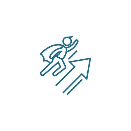 Rapid progress line icon, vector illustration. Rapid progress linear concept sign.