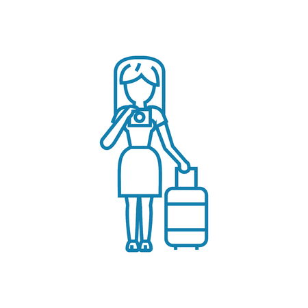 Readiness to leave line icon, vector illustration. Readiness to leave linear concept sign.